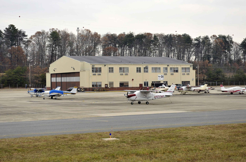 hangar 84 at Tipton Airport